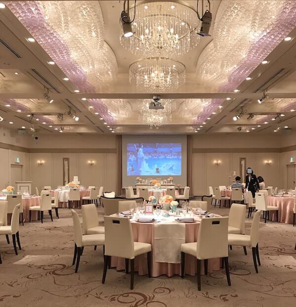 品川プリンスホテルの結婚式、披露宴会場