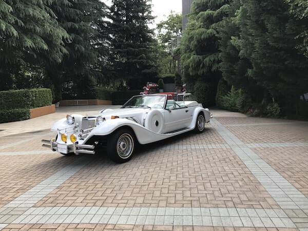 グランドヒル市ヶ谷結婚式、オープンカー