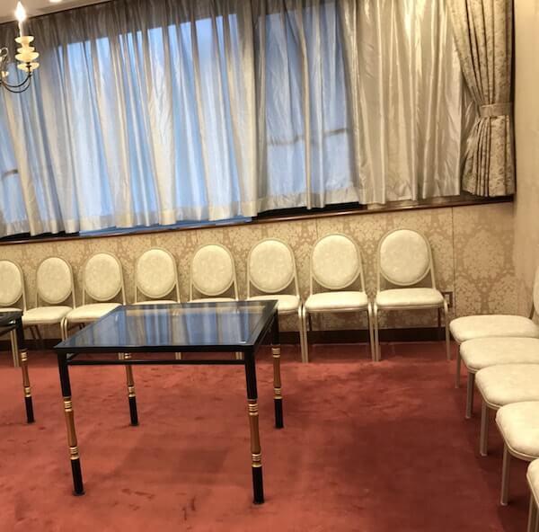グランドヒル市ヶ谷結婚式、控え室