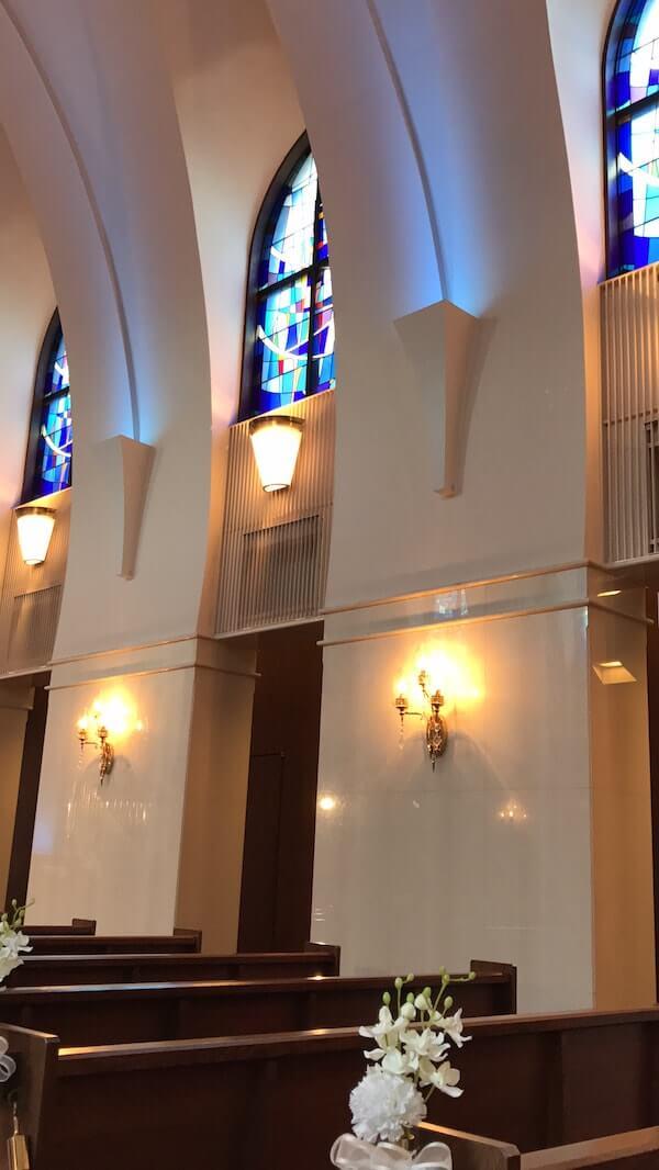 グランドヒル市ヶ谷結婚式、チャペルステンドグラス