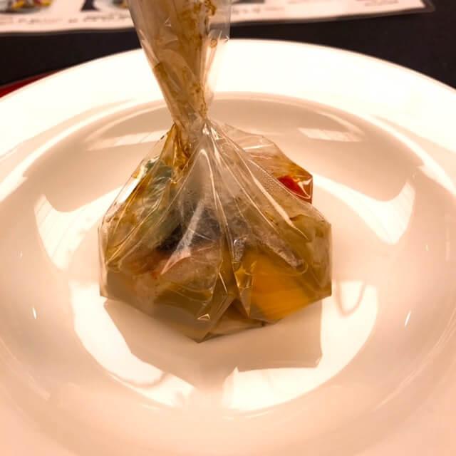 グランドヒル市ヶ谷、料理、金目鯛のパピヨット