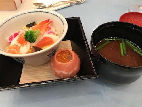 グランドアーク半蔵門のウェディングフェアのちらし寿司試食