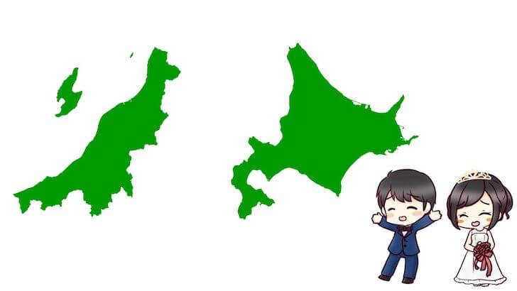 新潟と北海道は結納金の相場が安い