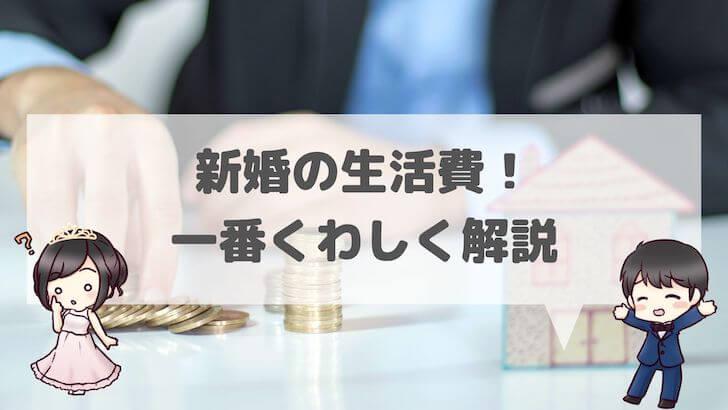 新婚の生活費!一番くわしく解説【図解あり】